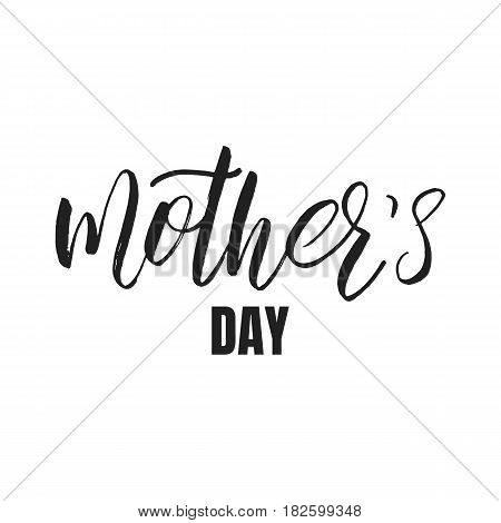 Mothers Day calligraphic lettering design. Holiday typography