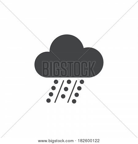 Hail icon isolated on white background .
