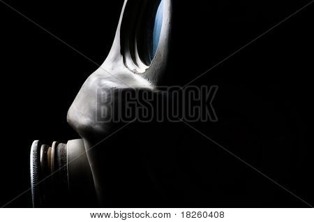 Studio Shot Of A Gasmask With Frontal Lighting