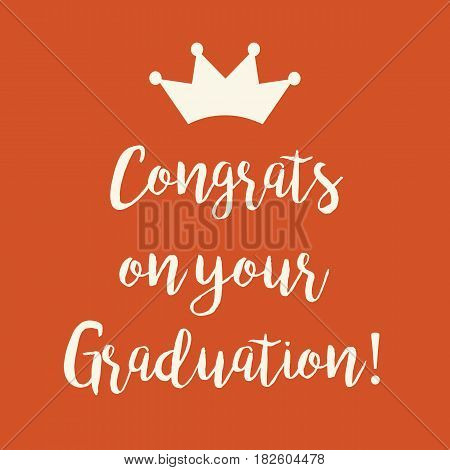 Orange Congrats On Your Graduation Greeting Card