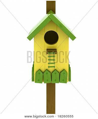 colored birdhouse
