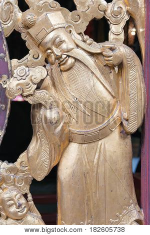 Gunagdong, China - Nov 28 2015: Relief At Foshan Ancestral Temple(zumiao Temple). A Famous Historic