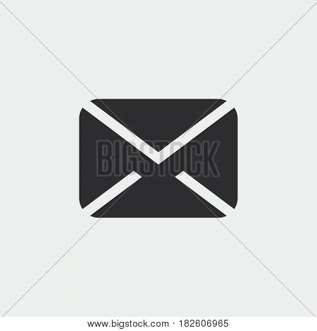message icon isolated on white background .