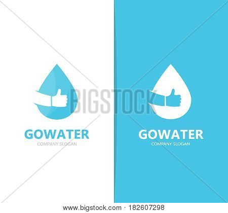 Vector of oil and like logo combination. Drop and best symbol or icon. Unique water and aqua logotype design template.