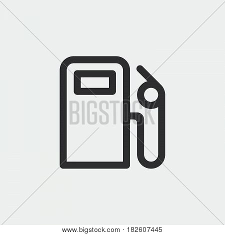 gas station icon isolated on white background .