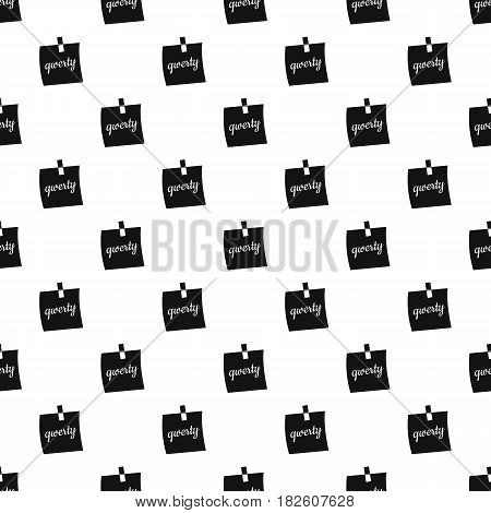 Paper sheet with text qwerty pattern seamless in simple style vector illustration