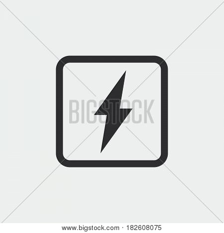 electricity icon isolated on white background .