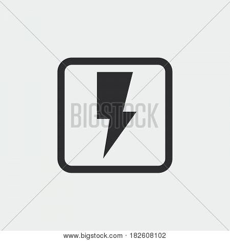 flash icon isolated on white background .