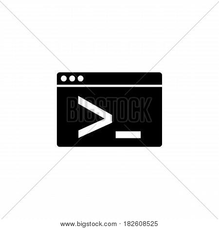 Custom coding solid icon, seo and development, browser sign, a filled pattern on a white background, eps 10.