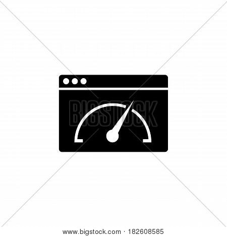 Page speed solid icon, seo and development, browser sign, a filled pattern on a white background, eps 10.