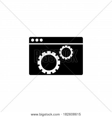 Website optimization solid icon, seo and development, browser sign, a filled pattern on a white background, eps 10.
