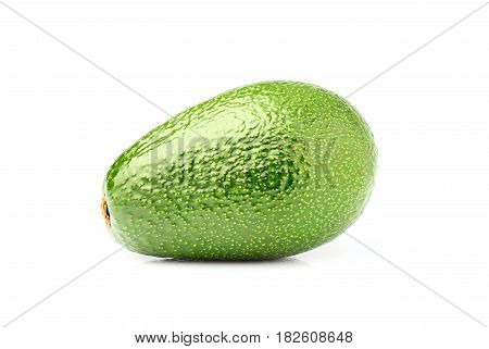 Ripe avocado close up isolated on white background.