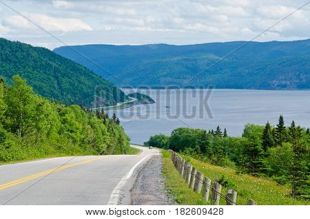 Picture of the  Highway in back country Newfoundland Canada