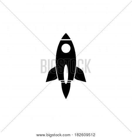 Start up solid icon, seo and development, Rocket sign, a filled pattern on a white background, eps 10.