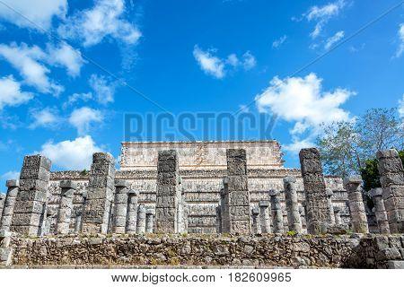 Columns In Chichen Itza