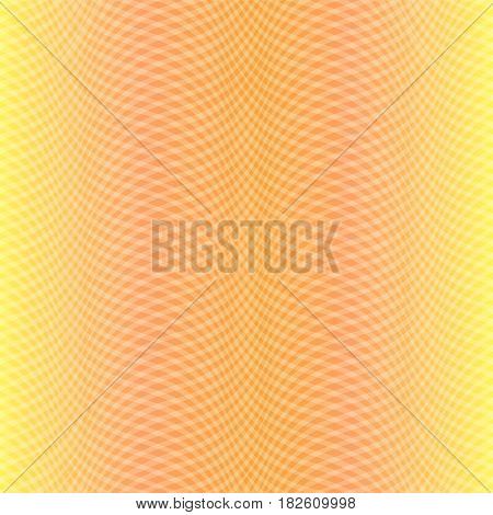 Warm Yellow Pattern with Crossed Oblique Lines Making Cozy Fabric Like Background. Vector EPS 10