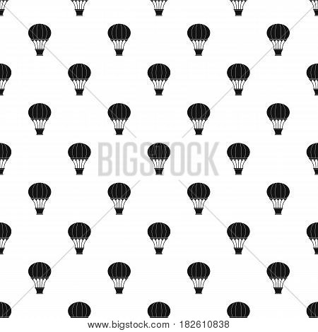 Hot air balloon with basket pattern seamless in simple style vector illustration