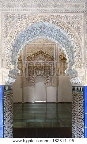 Beautiful Interior Of The Moorish Madrasah Of Granada