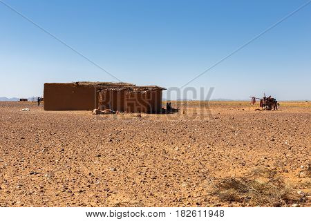 house Berber in the Sahara desert, Morocco