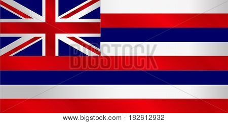 The flag of the United State state of Hawaii