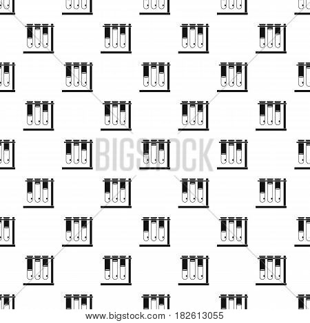Three beakers pattern seamless in simple style vector illustration