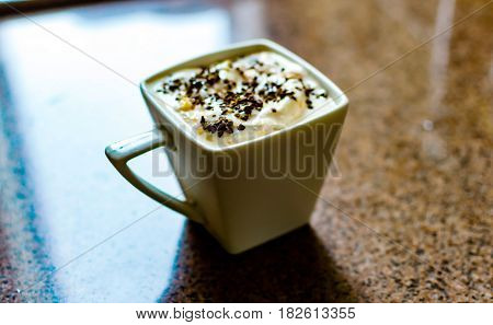 Сup Of Yogurt Sprinkled With Icoffee