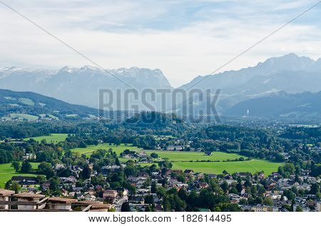 Salzburg. Cityscape of Slazburg town Austria, Europe