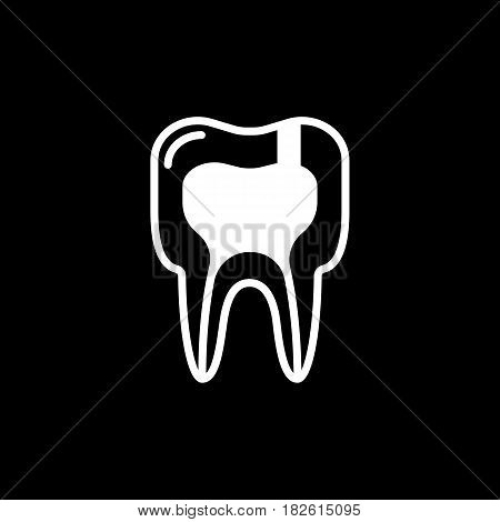 Tooth diseases periodontitis icon. vector illustration. Eps 10