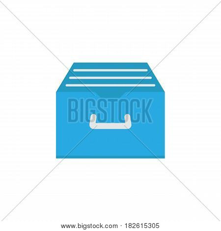 Archive storage flat icon, seo and development, file storage sign, a colorful solid pattern on a white background, eps 10.
