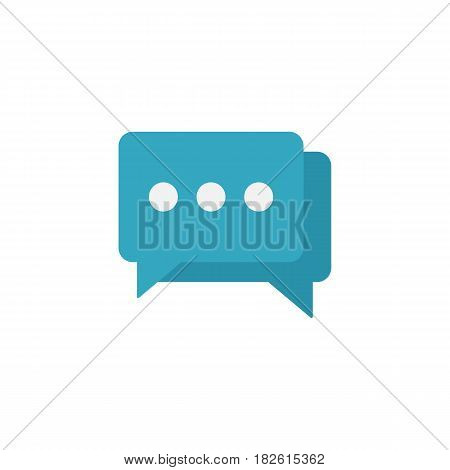 Social engagement flat icon, seo and development, Speech bubbles sign, a colorful solid pattern on a white background, eps 10.