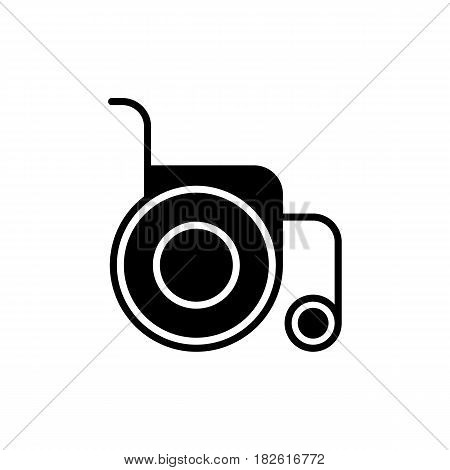 Disabled Handicap Icon. Wheelchair medical icon. Wheelchair vector illustration. isolated on white background. eps 10