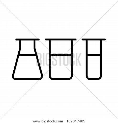 Chemistry vector icon. Lab symbol on white background. Eps 10