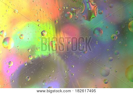 Beautiful colorful background of oil and water.