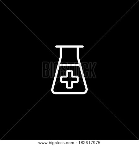 lab icon. vector illustration isolated on black background. Medical substance symbol. Eps 10