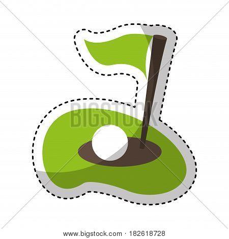 flag golf hole icon vector illustration design