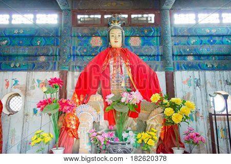 Shanxi, China - Sept 15 2015: Statue At Niangzi Pass(niangziguan). Was Famed As