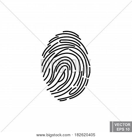 Fingerprint. Scanner. The Icon. Silhouette. For Your Design.
