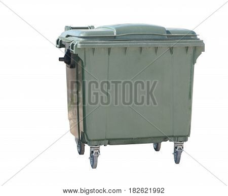 big garbage container on a white background