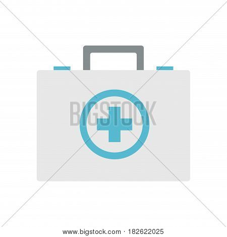 first aid kit over white background. colorful design. vector illustration