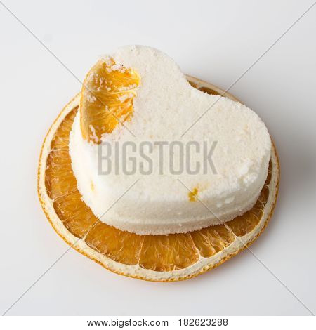 Salt Bath Bomb Decorated Orange