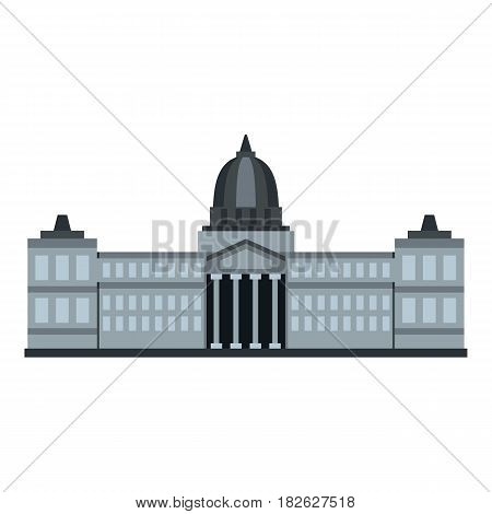 National Congress Building, Argentina icon flat isolated on white background vector illustration