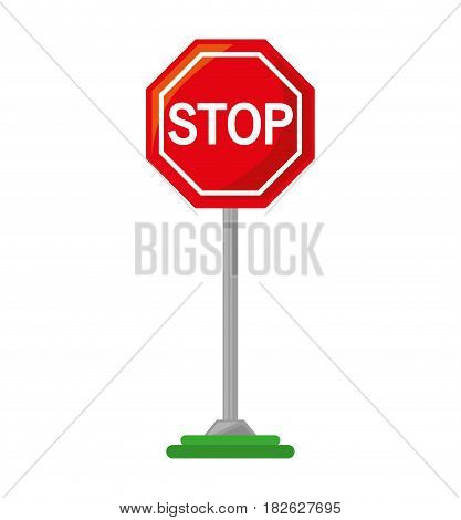 stop traffic signal isolated icon vector illustration design