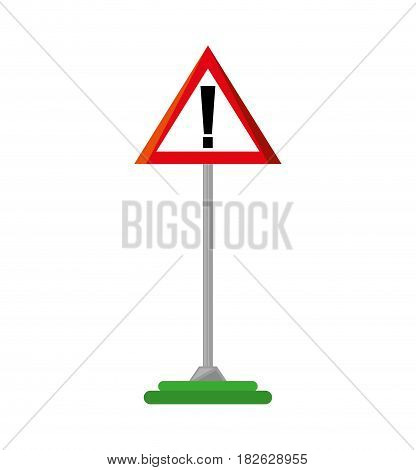 alert symbol traffic signal vector illustration design