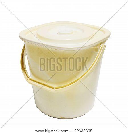 Dirty Closed Plastic Bucket