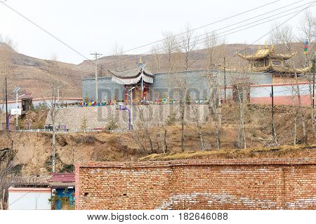 Qinghai, China - April 03 2015: 14Th Dalai Lama Birthplace In Taktser Village. The Village Of Taktse