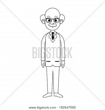 elderly male doctor icon image vector illustration design