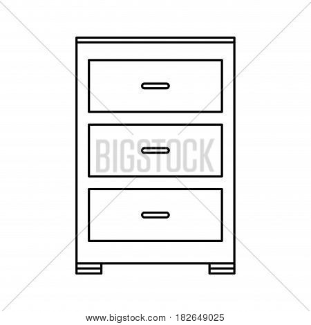 archive furniture icon image vector illustration design