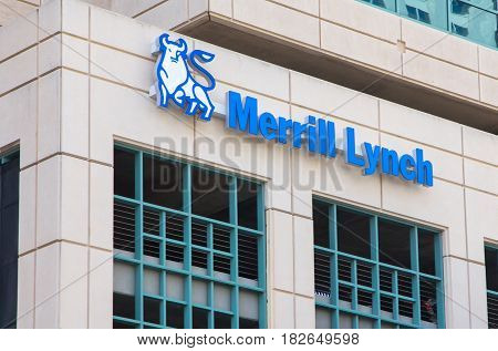 Merrill Lynch Exterior Sign And Logo