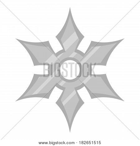 Shuriken weapon icon flat isolated on white background vector illustration
