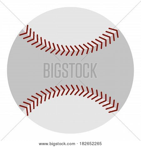 Softball ball icon flat isolated on white background vector illustration